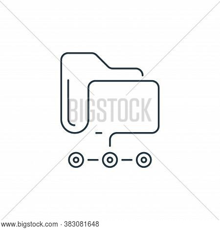 file sharing icon isolated on white background from hardware and technology collection. file sharing