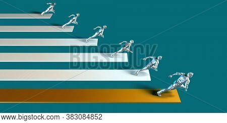Market Leader with Strategic Advantage of a Business 3D Render