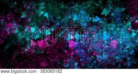Video Game Pixel Gaming as Abstract Background