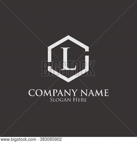 Intial L Logo. L Logo On Hexagon Shape. Monogram Intial L Logo. Company Logo Template. Vector Illust