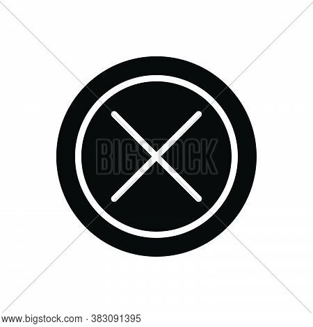 Black Solid Icon For False Fabled Phoney Bogus Factitious Fake Deceitful Erroneous Mistaken Inaccura