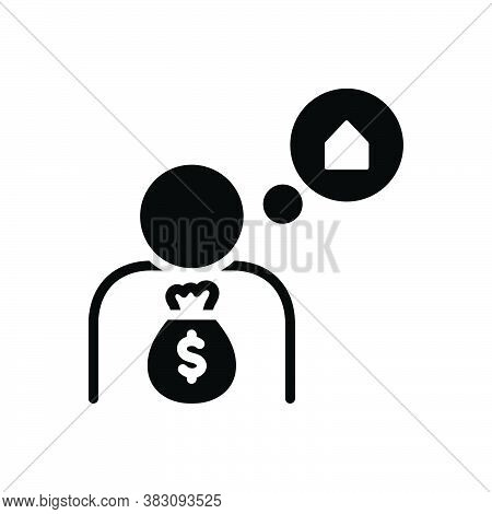 Black Solid Icon For If If-only Supposing Whether Hope Though Expectation Prospect Currency Uncertai