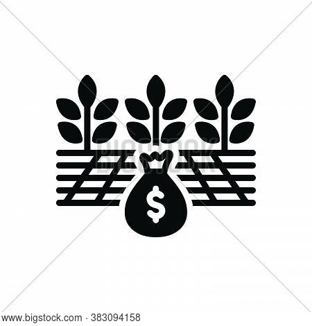 Black Solid Icon For Yield Profit Advantage Mileage Avail Farmer Agriculture Crop Harvest