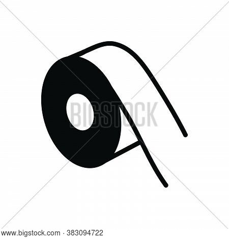 Black Solid Icon For Reflective-tape Reflective Tape Measuring-tape Ruler Roll Yardage Measurement D
