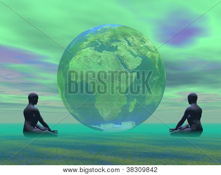 Green Meditation For Earth