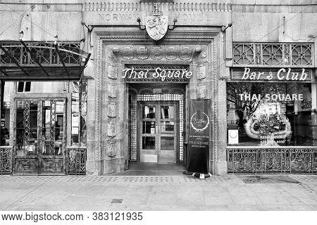 London, Uk - May 13, 2012: Thai Square Restaurant At Trafalgar Square, London. Thai Square Is An Awa