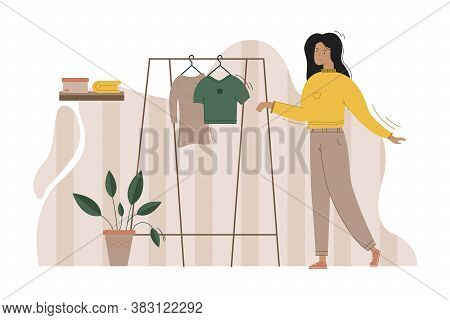 Shopping, Business, Advertising, Welcome, Promotion, Sale Concept. Young Happy Businesswoman Or Girl