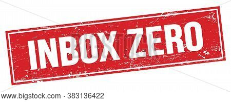 Inbox Zero Text On Red Grungy Rectangle Stamp.