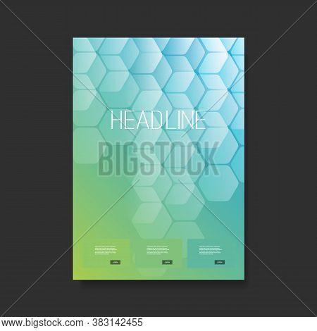 Modern Style Flyer Or Cover Designfor Your Business With Cubic Pattern - Applicable For Reports,pres