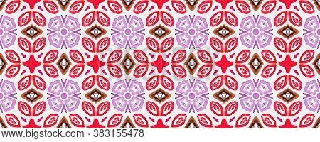 Patterned Tiles Wall. Multicolor Tribal. Colorful Oriental Tile. Italian Ceramics Texture. Multicolo