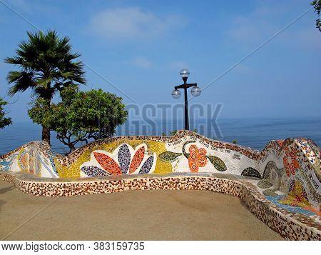 El Parque Del Amor On The Coastline Miraflores, Lima, Peru, South America