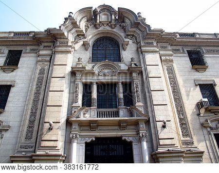 The Vintage Palace On Plaza De Armas, Plaza Mayor, Lima City, Peru, South America