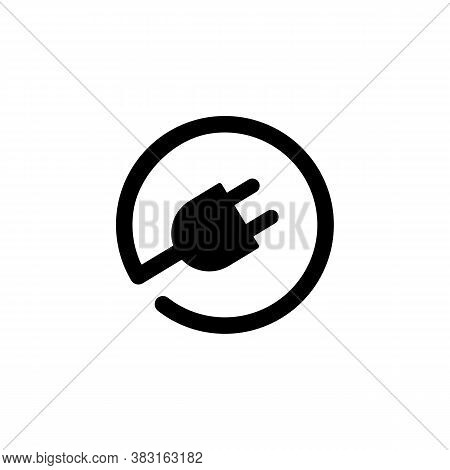 Plug-in Electrical Plug Vector Icon. Electric Plug With Wire. Vector Eps10