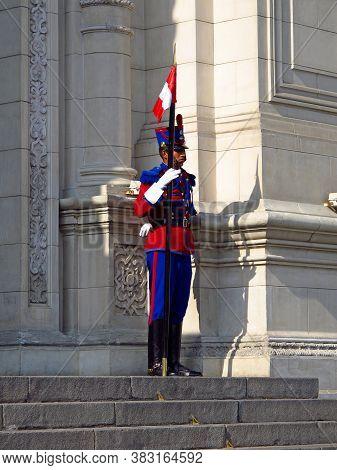 Lima / Peru - 01 May 2011: Presidential Palace, Palacio De Gobierno, Lima City, Peru, South America