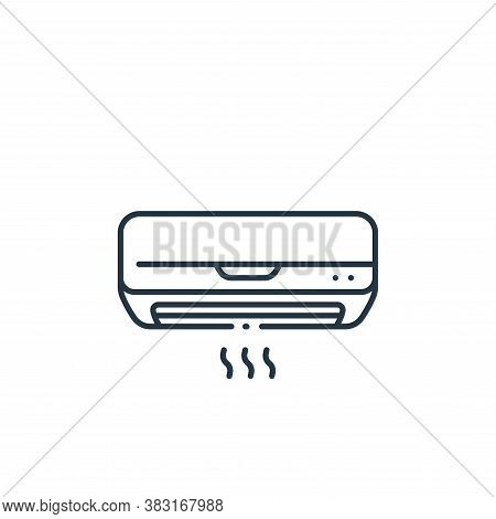 air conditioner icon isolated on white background from interior design collection. air conditioner i