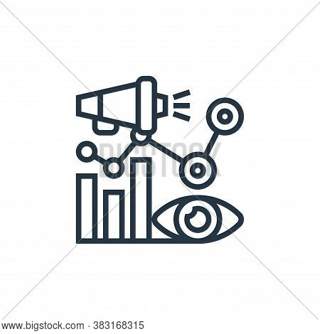 impression icon isolated on white background from digital marketing collection. impression icon tren