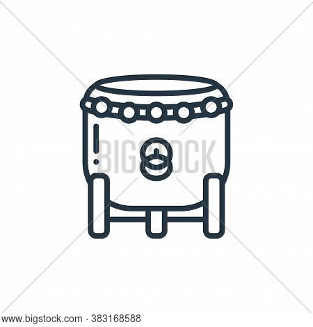 drum icon isolated on white background from chinese new year collection. drum icon trendy and modern