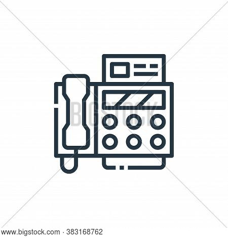 fax icon isolated on white background from office collection. fax icon trendy and modern fax symbol