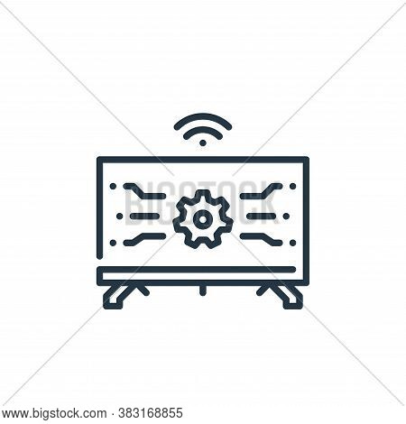 smart tv icon isolated on white background from smart home collection. smart tv icon trendy and mode