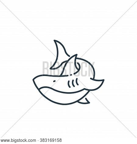 shark icon isolated on white background from pirate collection. shark icon trendy and modern shark s