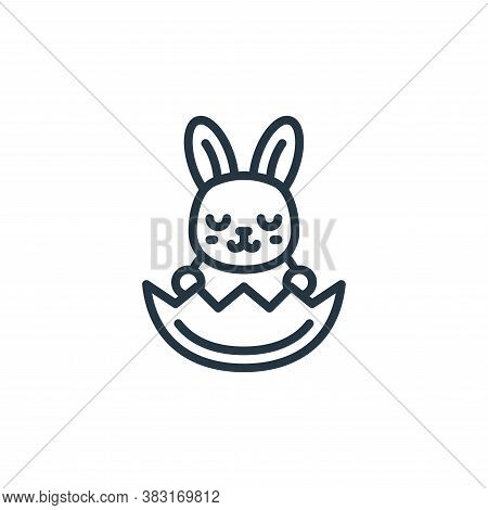 bunny icon isolated on white background from easter avatars collection. bunny icon trendy and modern