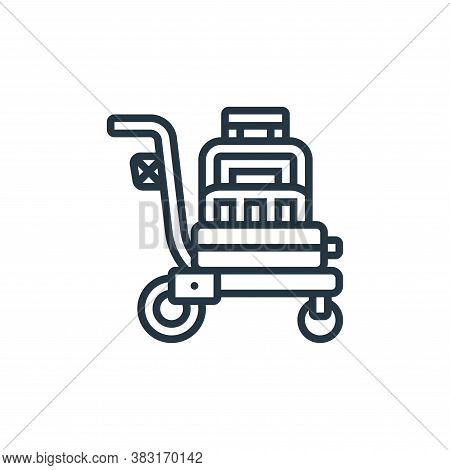 trolley icon isolated on white background from airport collection. trolley icon trendy and modern tr