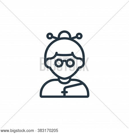 woman icon isolated on white background from chinese new year collection. woman icon trendy and mode