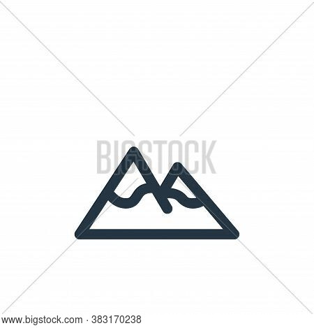mountain icon isolated on white background from outdoor collection. mountain icon trendy and modern