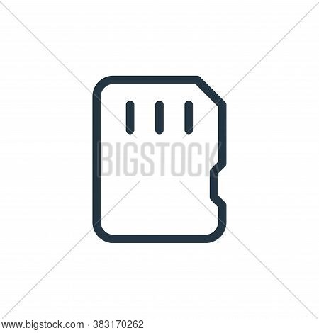 storage card icon isolated on white background from media collection. storage card icon trendy and m