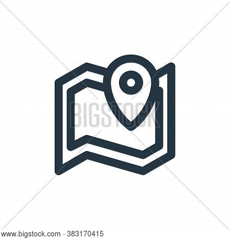 map icon isolated on white background from outdoor collection. map icon trendy and modern map symbol
