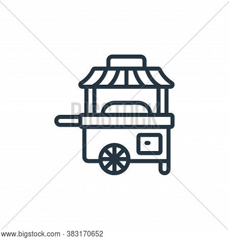 cart icon isolated on white background from chinese new year collection. cart icon trendy and modern