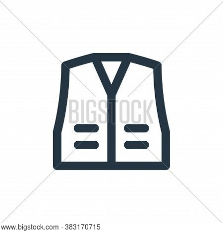 high visibility vest icon isolated on white background from laboor and tools collection. high visibi