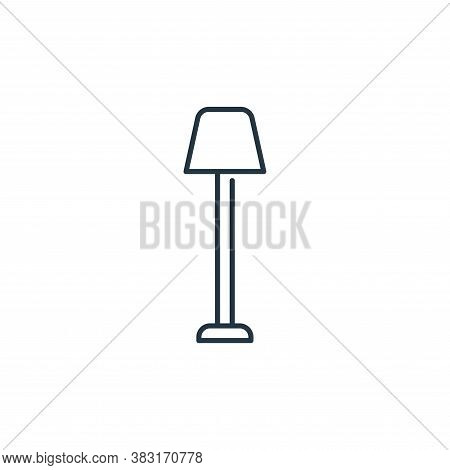 lamp icon isolated on white background from interior design collection. lamp icon trendy and modern
