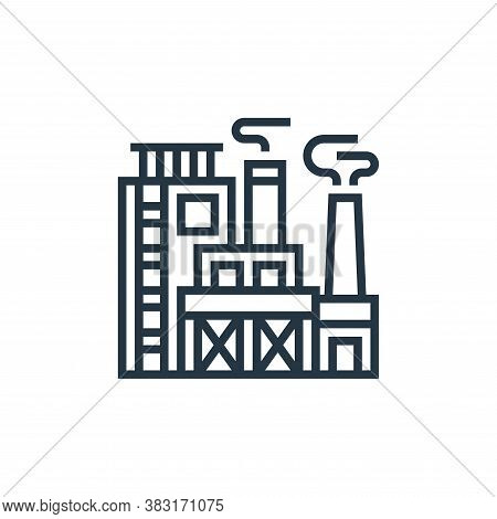 factory icon isolated on white background from industry collection. factory icon trendy and modern f