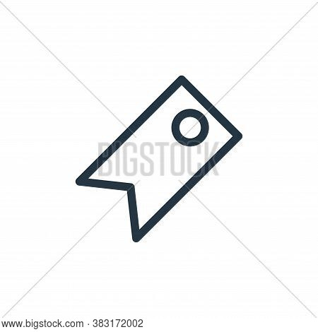 price tag icon isolated on white background from finance collection. price tag icon trendy and moder