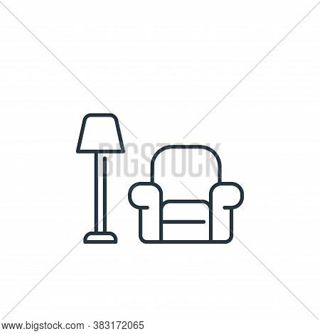 livingroom icon isolated on white background from interior design collection. livingroom icon trendy