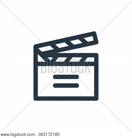 movie icon isolated on white background from arts collection. movie icon trendy and modern movie sym