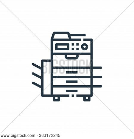 photocopy icon isolated on white background from office collection. photocopy icon trendy and modern