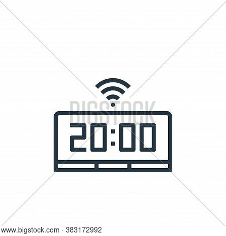 smart clock icon isolated on white background from smarthome collection. smart clock icon trendy and