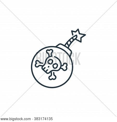 bomb icon isolated on white background from pirate collection. bomb icon trendy and modern bomb symb
