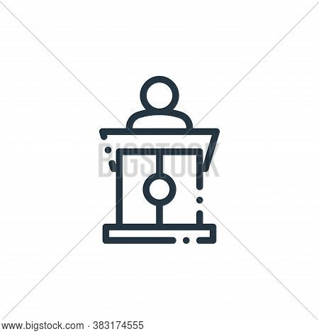 podium icon isolated on white background from education collection. podium icon trendy and modern po