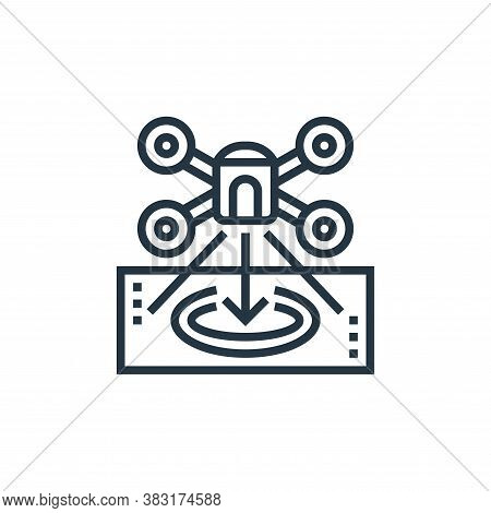drone icon isolated on white background from drone elements collection. drone icon trendy and modern