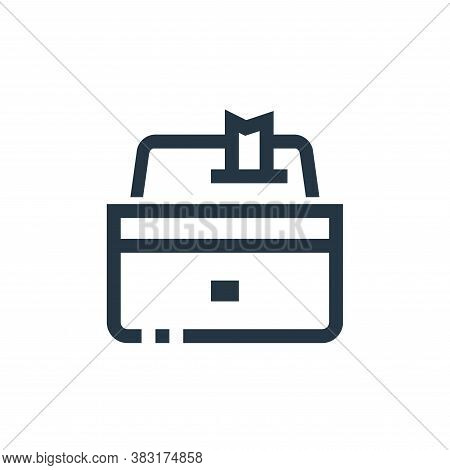 cashier icon isolated on white background from ecommerce collection. cashier icon trendy and modern