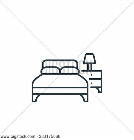 bedroom icon isolated on white background from interior design collection. bedroom icon trendy and m