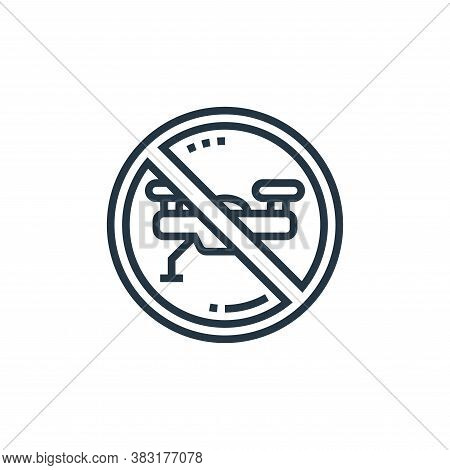 forbidden icon isolated on white background from drone elements collection. forbidden icon trendy an