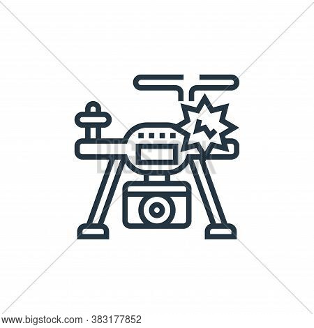 accident icon isolated on white background from drone elements collection. accident icon trendy and