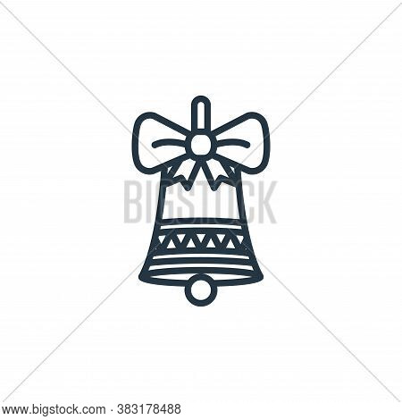 bell icon isolated on white background from easter day collection. bell icon trendy and modern bell