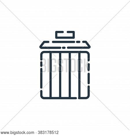 delete icon isolated on white background from user interface collection. delete icon trendy and mode