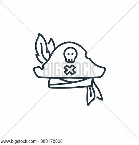 pirate hat icon isolated on white background from pirate collection. pirate hat icon trendy and mode