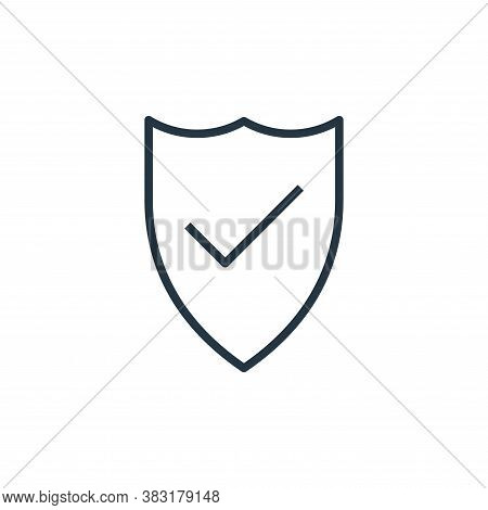 security icon isolated on white background from startup and development collection. security icon tr